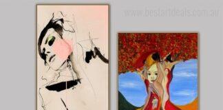 2 piece canvas wall art